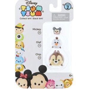 Disney Tsum Tsum Series 2 Chip, Olaf, Mickey Mouse